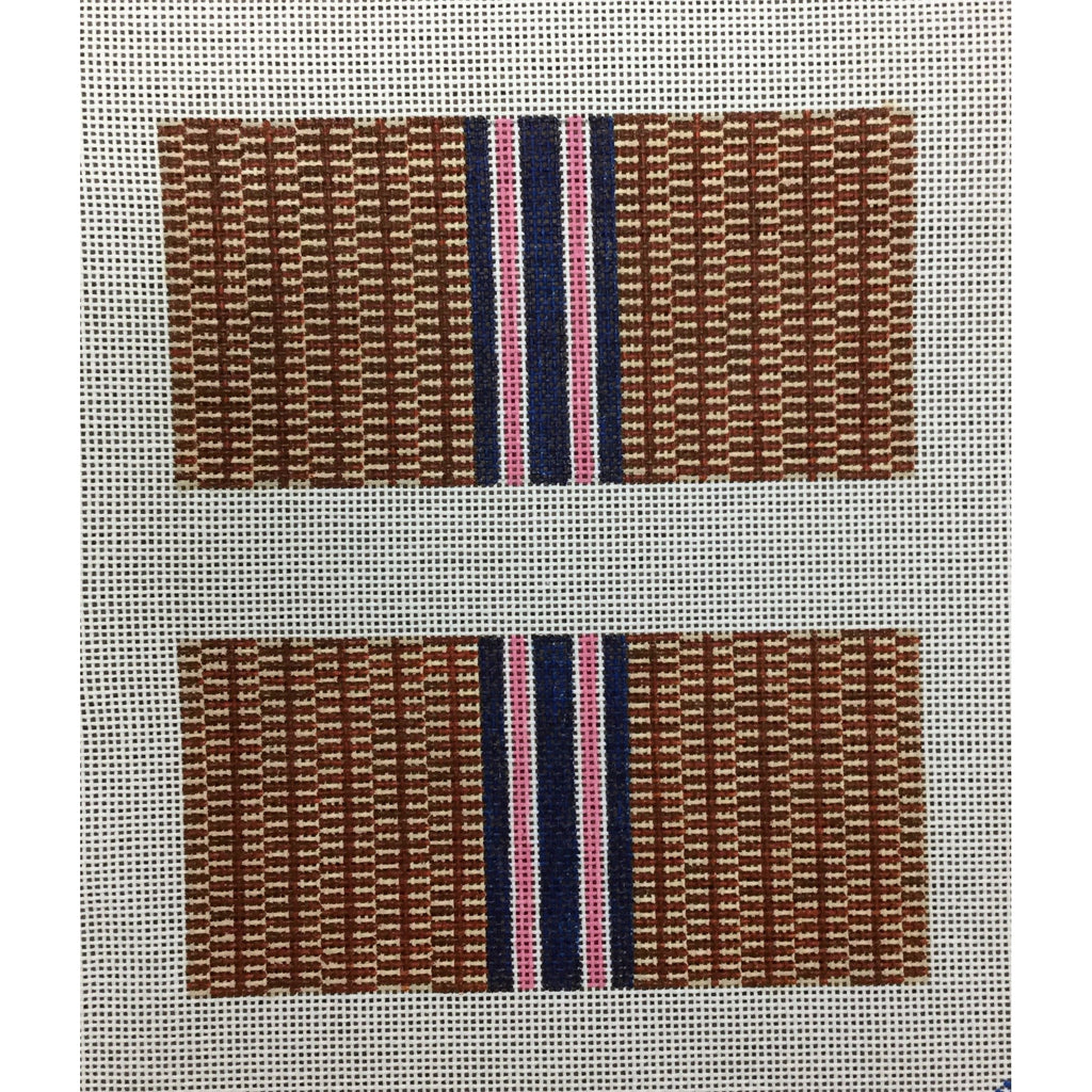 Nantucket Stripe Eyeglass Case Canvas - needlepoint