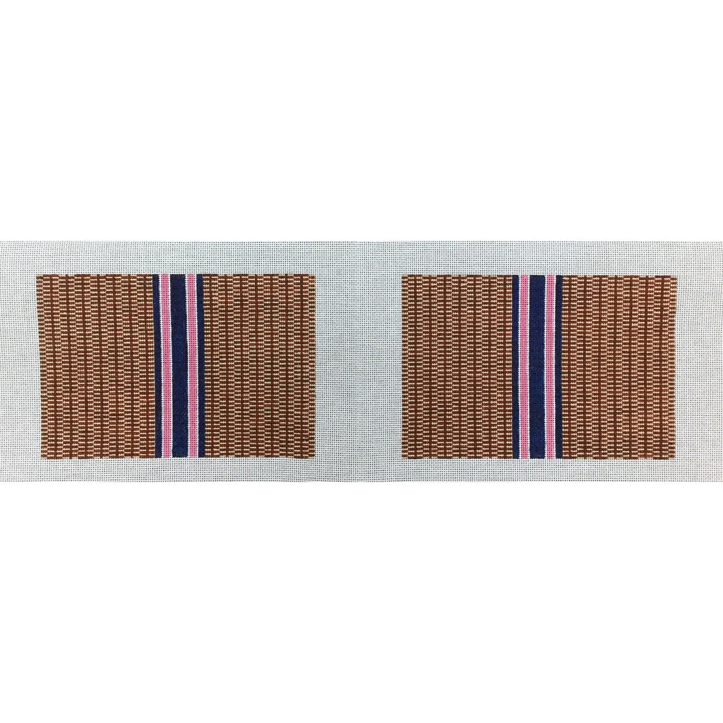 Nantucket Stripe Clutch Canvas-Needlepoint Canvas-Anne Fisher-KC Needlepoint