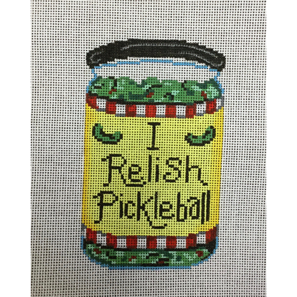 I Relish Pickleball Canvas-Needlepoint Canvas-Patti Mann-KC Needlepoint