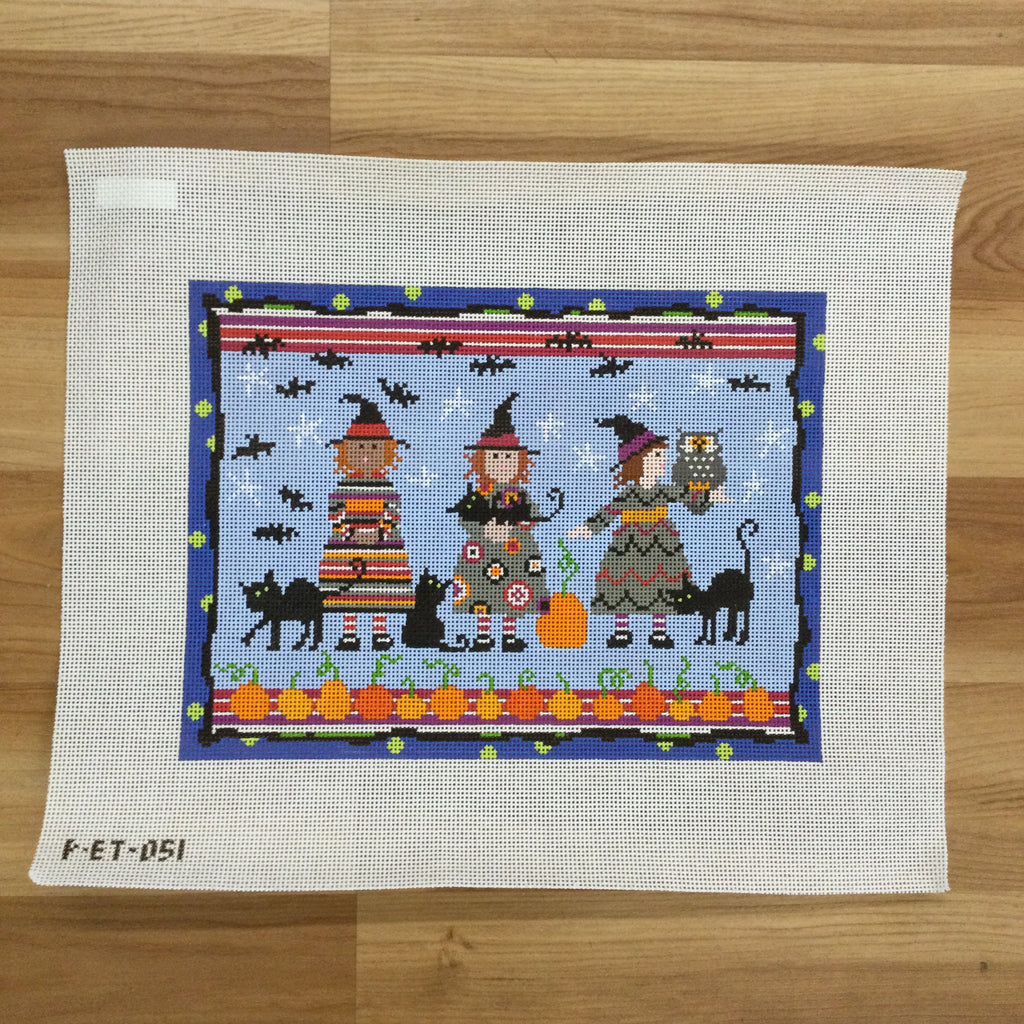 Three Witches Canvas - needlepoint