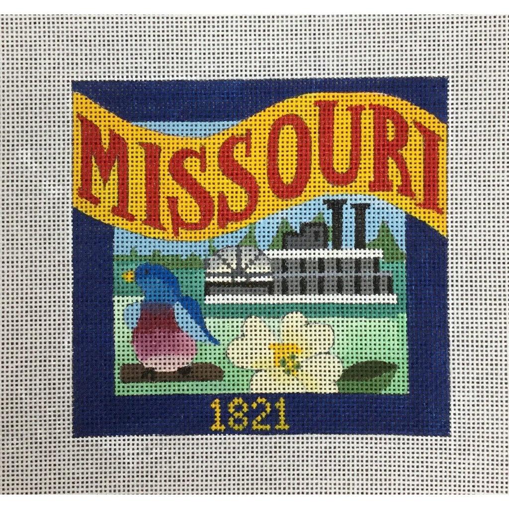 Missouri Travel Needlepoint Canvas-Needlepoint Canvas-Ewe & Eye-KC Needlepoint