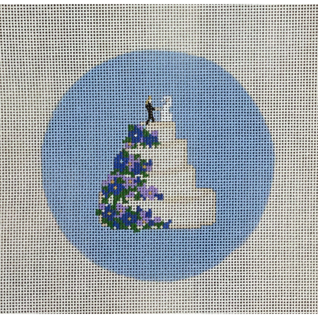 Wedding Cake Canvas-Needlepoint Canvas-KCN Designers-KC Needlepoint