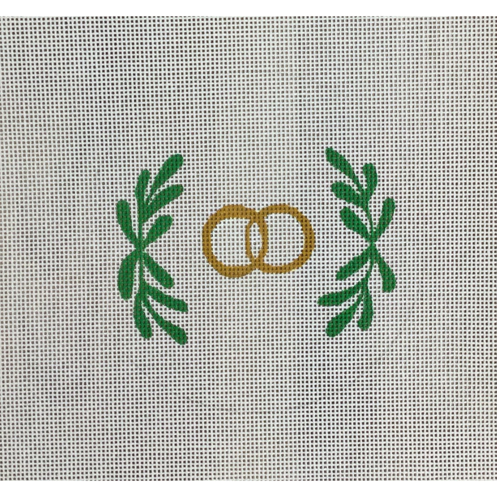 Wedding Ring Canvas-Needlepoint Canvas-KC Designs-KC Needlepoint