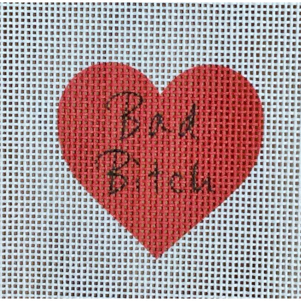 Bad Bitch Heart Canvas