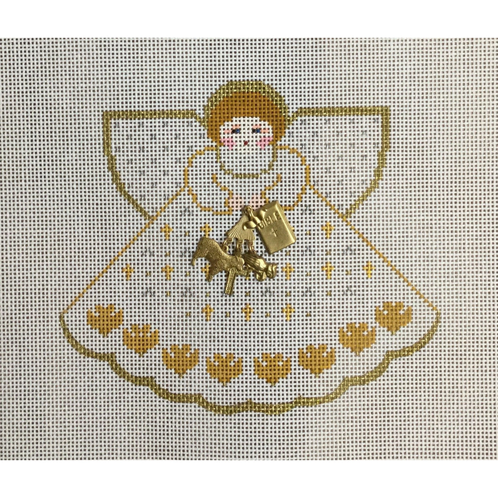 Religious Angel Canvas-Needlepoint Canvas-Painted Pony-KC Needlepoint