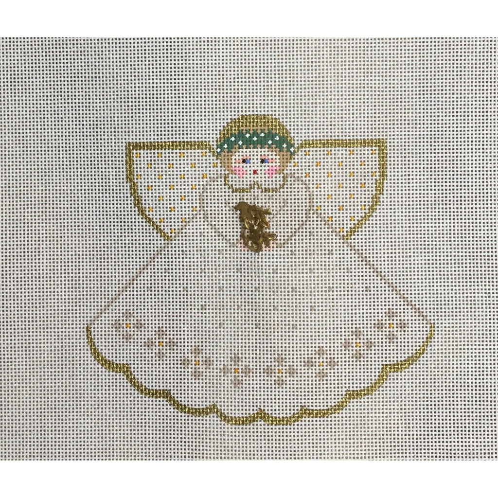 Wedding Day Angel Canvas-Needlepoint Canvas-Painted Pony-KC Needlepoint
