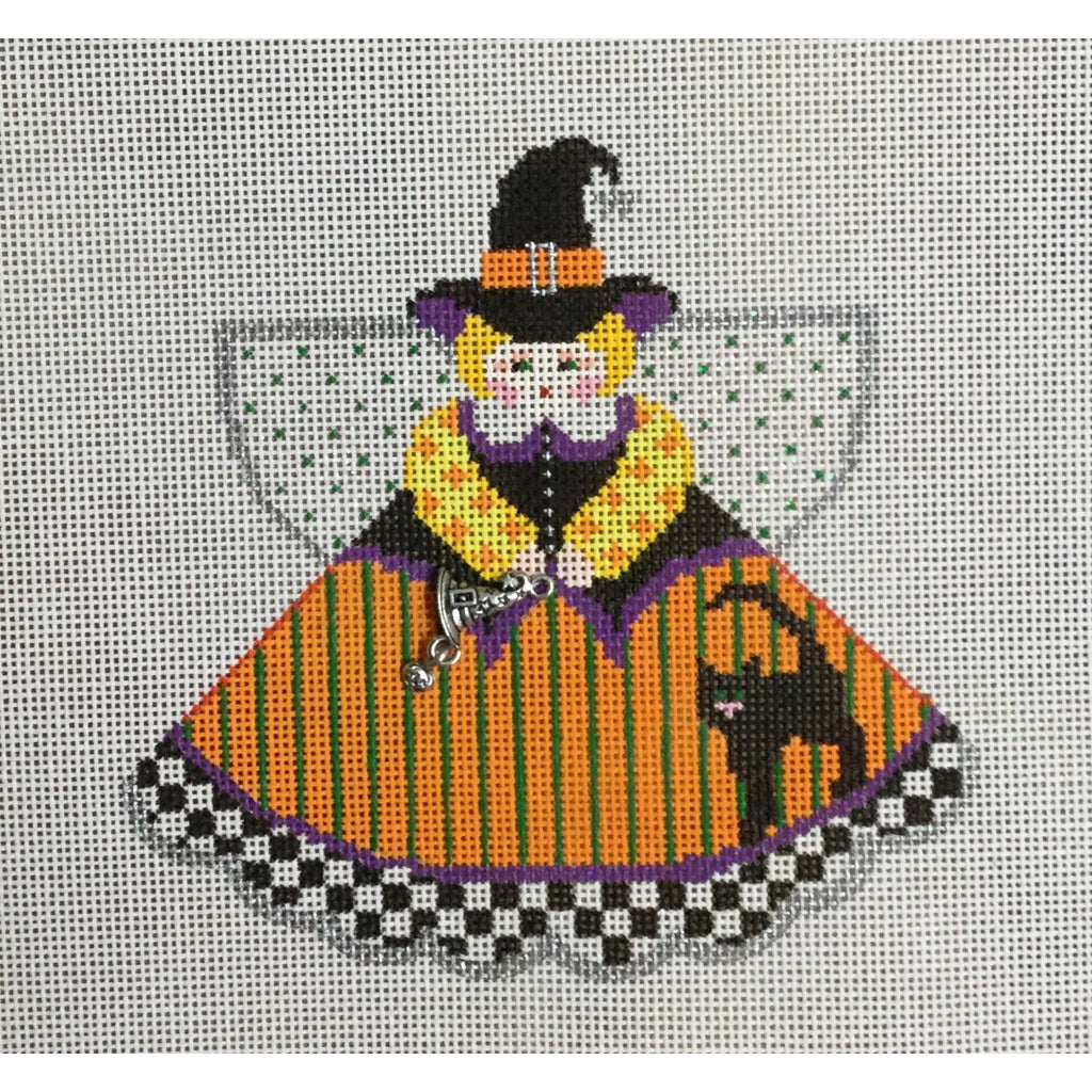 Witchy Woman Angel Canvas-Needlepoint Canvas-Painted Pony-KC Needlepoint