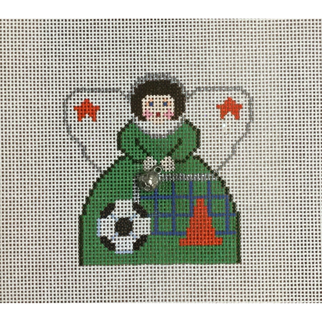 Soccer Angel Canvas-Needlepoint Canvas-Painted Pony-KC Needlepoint