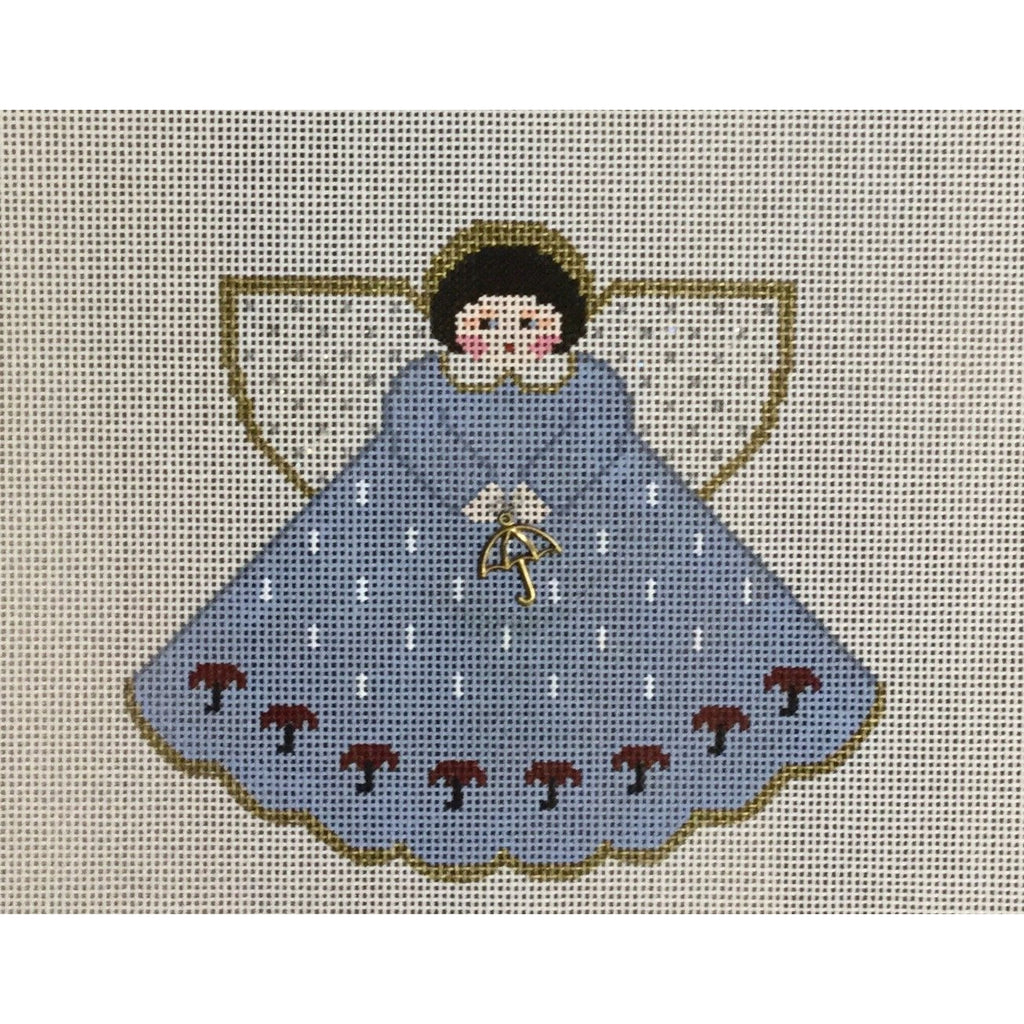 Umbrella Angel Canvas-Needlepoint Canvas-Painted Pony-KC Needlepoint