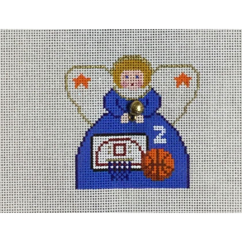 Basketball Angel Canvas-Needlepoint Canvas-Painted Pony-KC Needlepoint