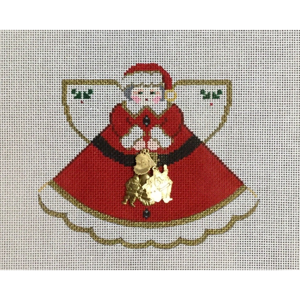 Santa Angel Canvas-Needlepoint Canvas-Painted Pony-KC Needlepoint