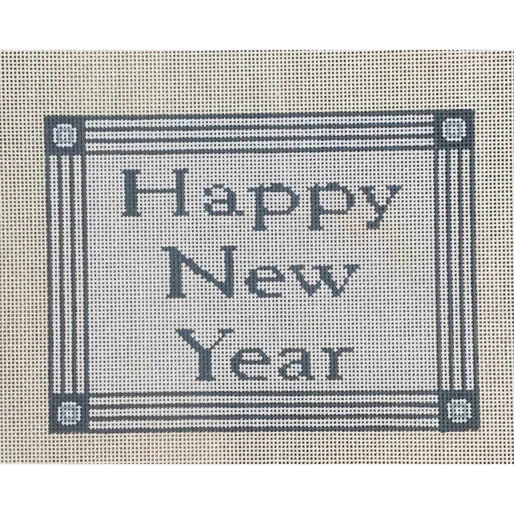 Happy New Year Canvas-Needlepoint Canvas-CBK Needlepoint-KC Needlepoint