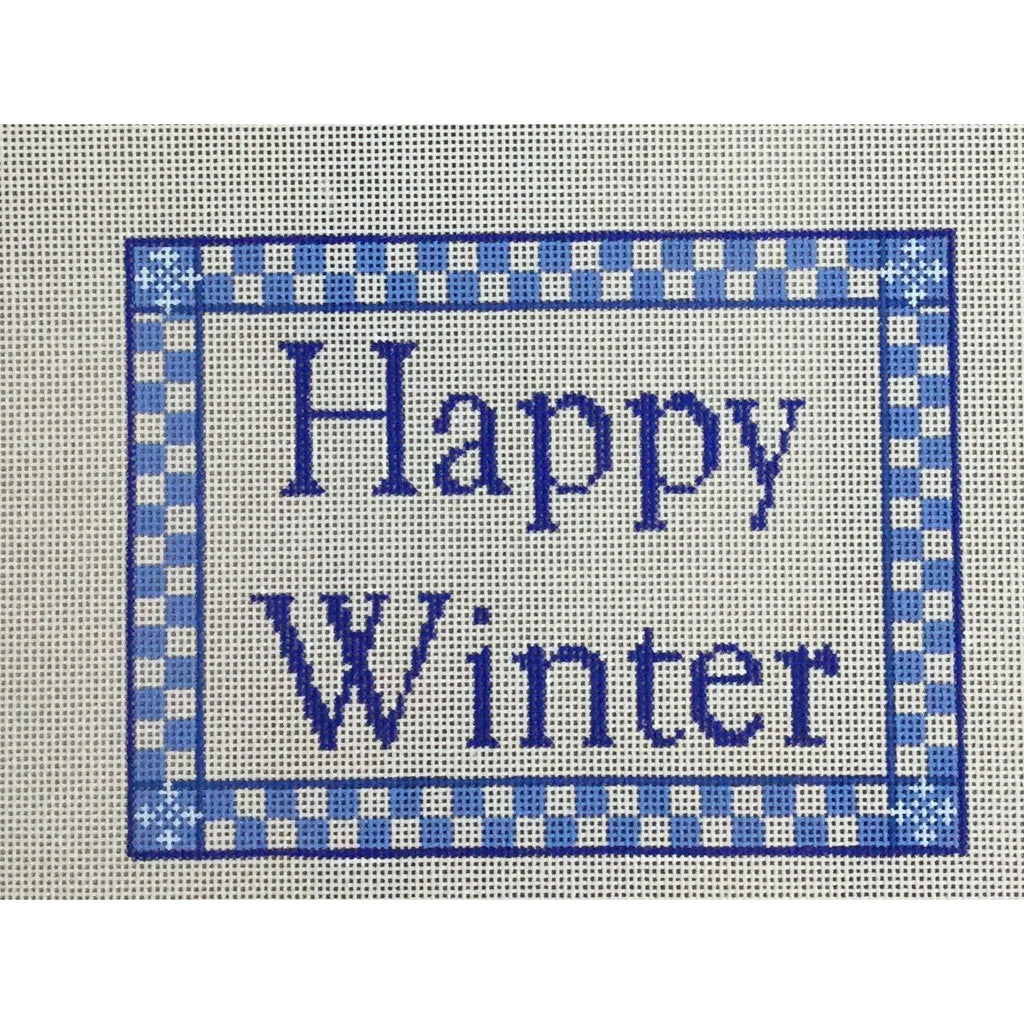 Happy Winter Canvas-Needlepoint Canvas-CBK Needlepoint-KC Needlepoint