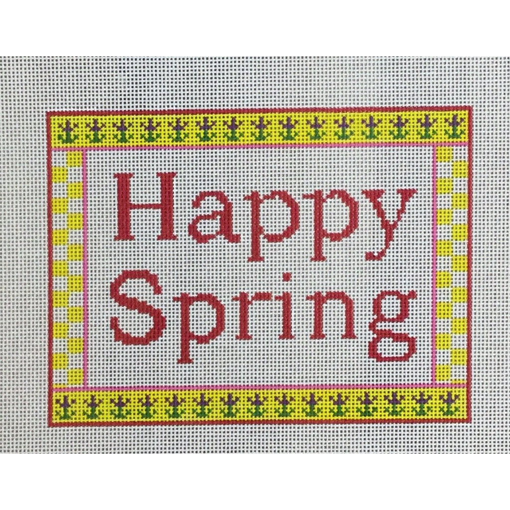 Happy Spring Canvas-Needlepoint Canvas-CBK Needlepoint-KC Needlepoint