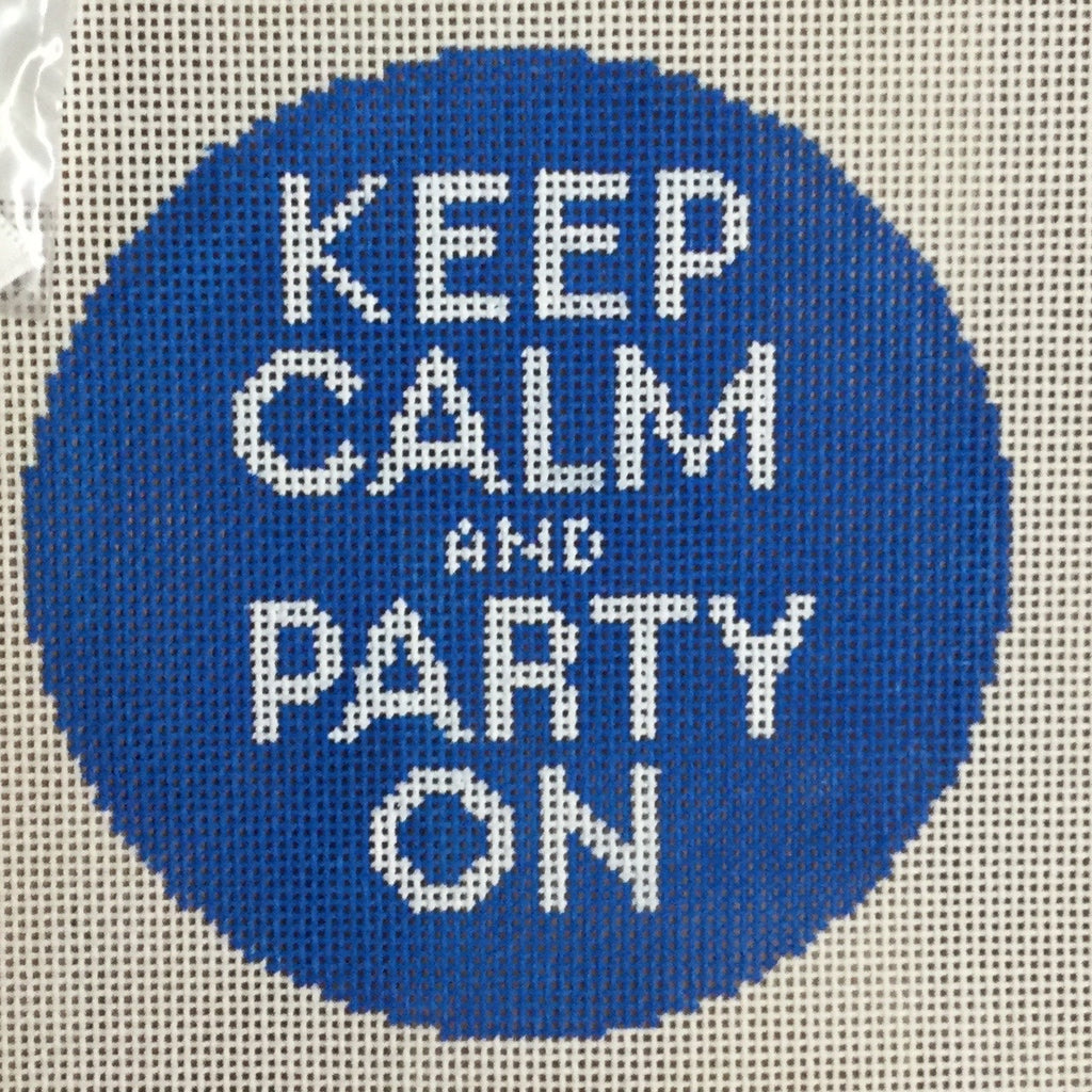 Keep Calm and Party On Canvas