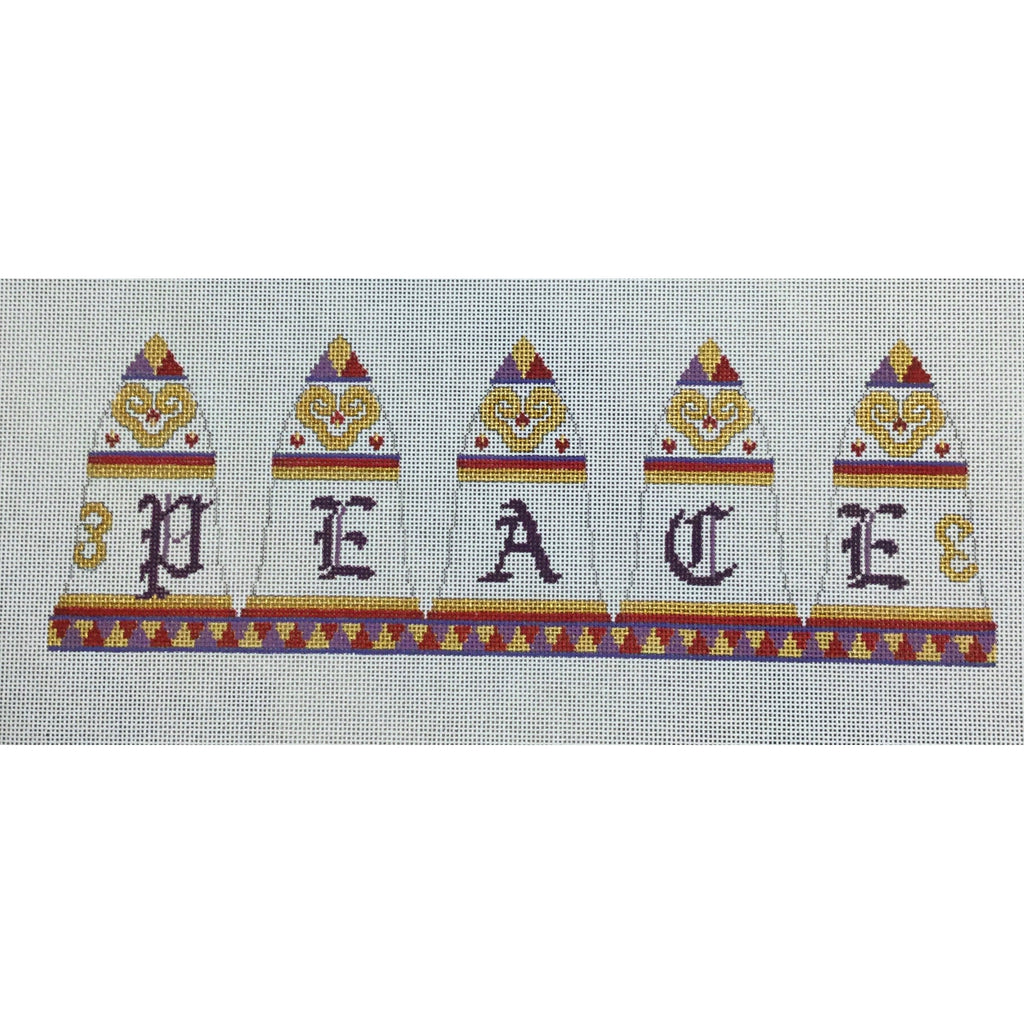Peace 3D Bell Canvas-Needlepoint Canvas-Susan Roberts-KC Needlepoint