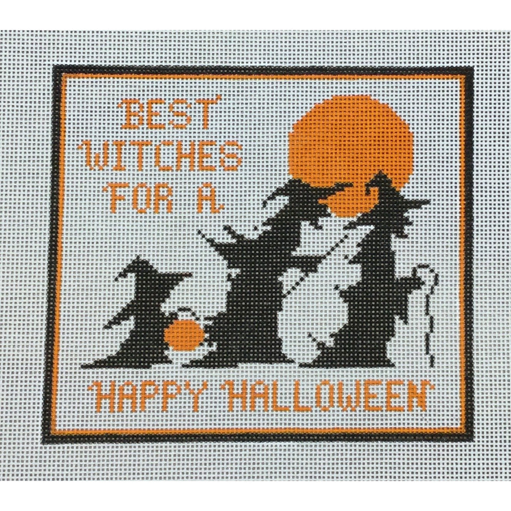 Best Witches... Canvas-Needlepoint Canvas-Winnetka Stitchery-KC Needlepoint