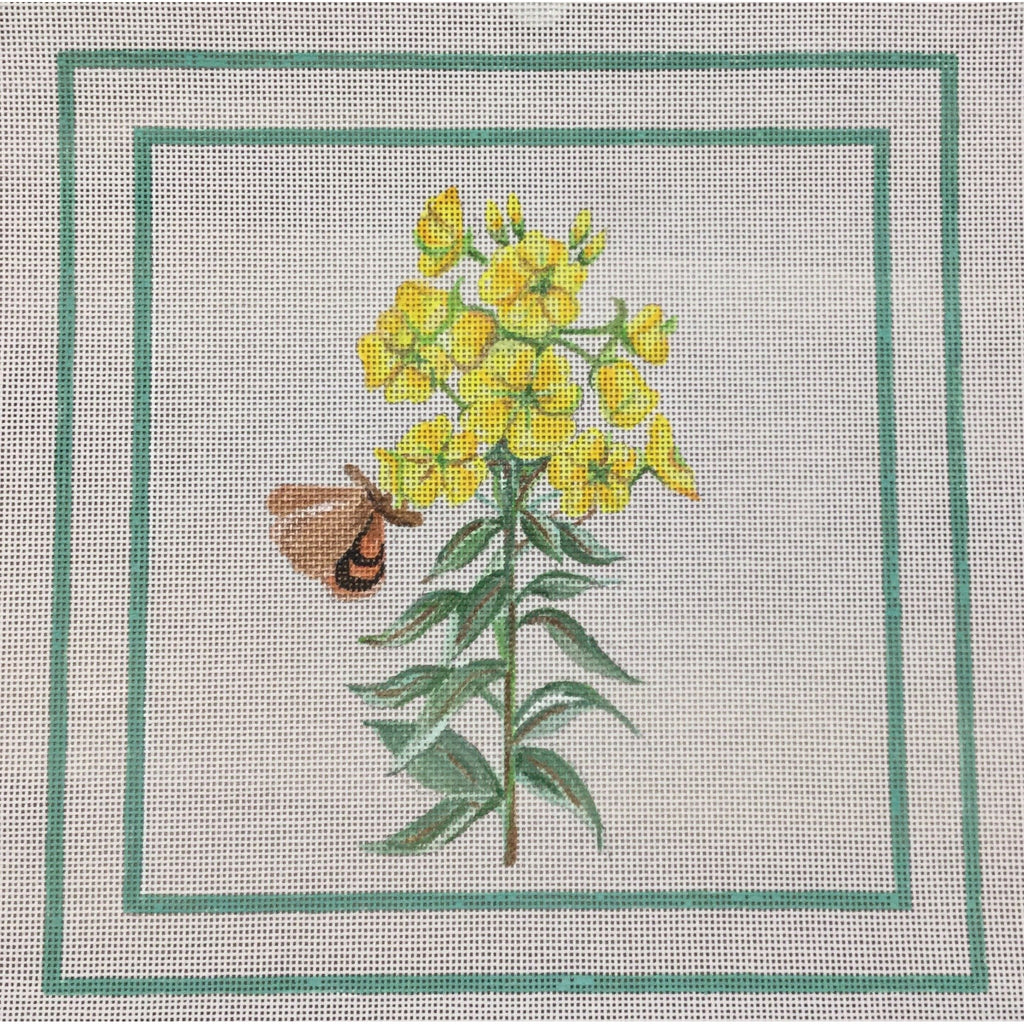 Yellow Flowers and Butterfly Canvas