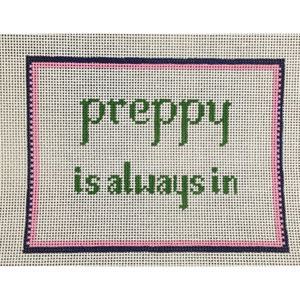 Preppy Is Always In Canvas - KC Needlepoint