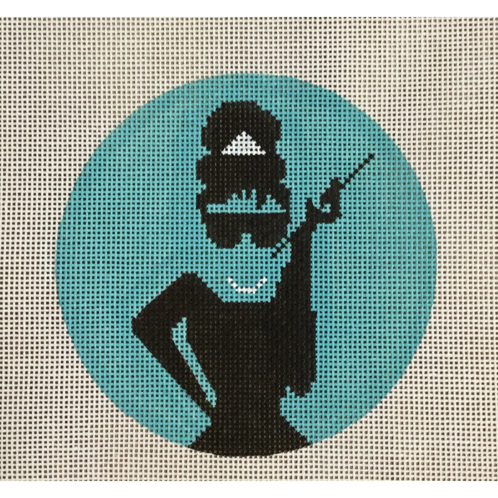 Audrey Round Canvas - KC Needlepoint