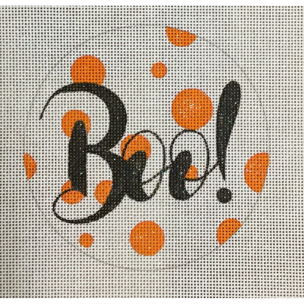 Boo Round Canvas - KC Needlepoint