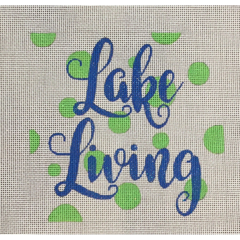 Lake Living Canvas-Needlepoint Canvas-A Poore Girl Paints-KC Needlepoint