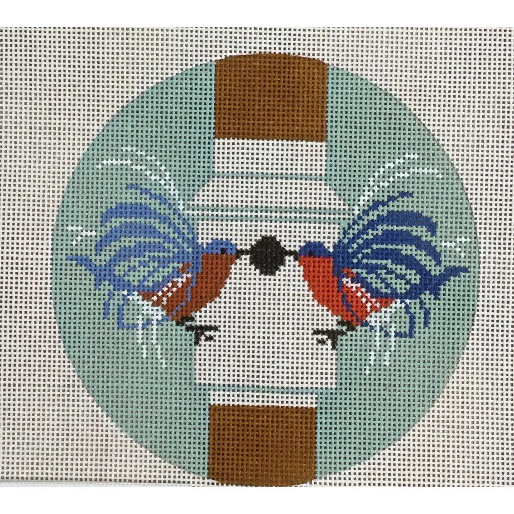 Homecoming Round Canvas-Needlepoint Canvas-The Meredith Collection-KC Needlepoint