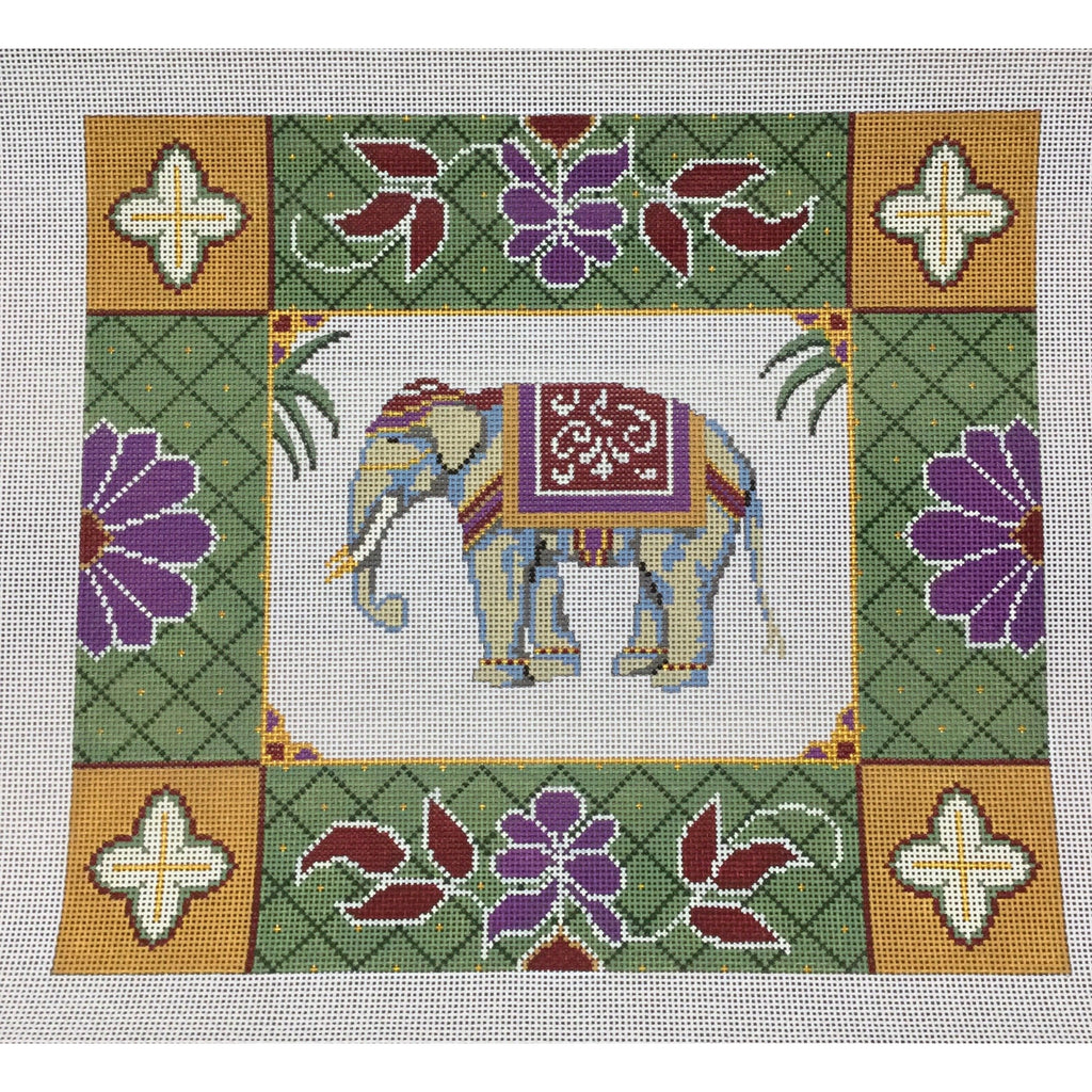 Elephant Pillow Needlepoint Canvas-Needlepoint Canvas-The Collection-KC Needlepoint