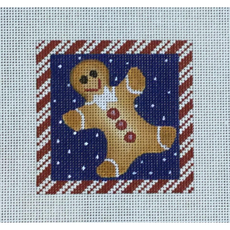 Gingerbread Boy Canvas-Needlepoint Canvas-Ewe & Eye-KC Needlepoint