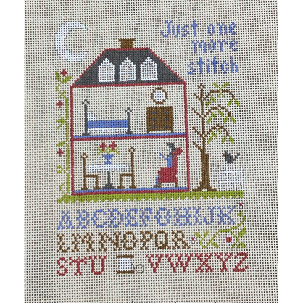 Just One More Stitch Sampler Canvas-Needlepoint Canvas-Ewe & Eye-KC Needlepoint