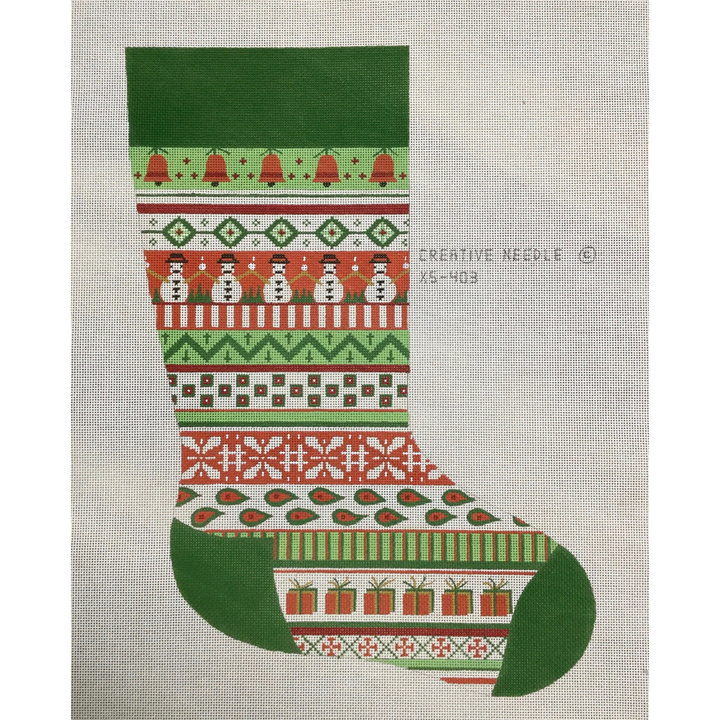 Snowman Stocking Canvas-Needlepoint Canvas-Creative Needle-KC Needlepoint