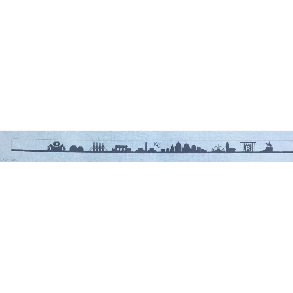 #2 KC Skyline Belt Canvas - needlepoint