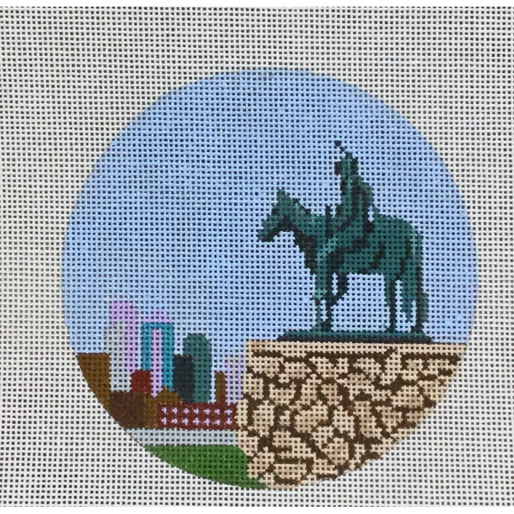 "The Scout 4 1/2"" Round Canvas-KCN Designers-KC Needlepoint"