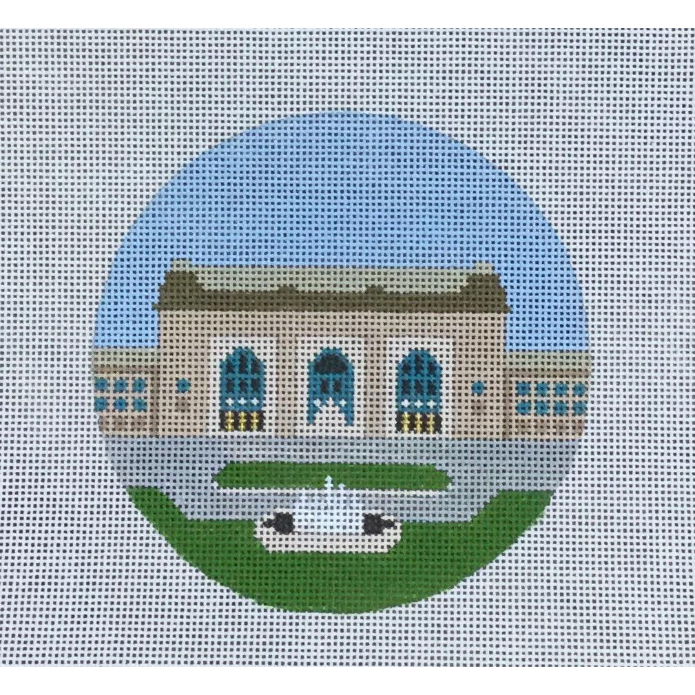 "Union Station 4 1/2"" Round Canvas-KCN Designers-KC Needlepoint"