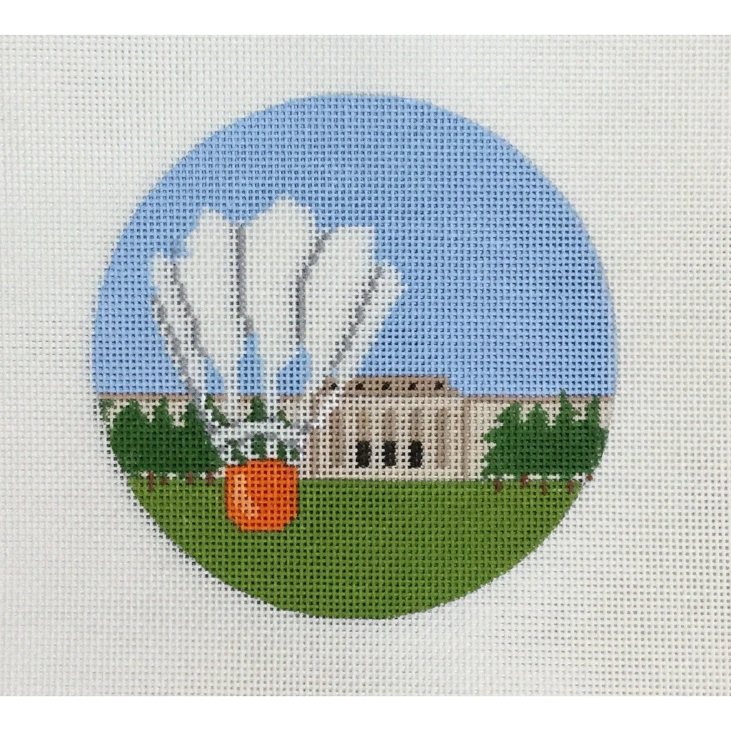 "Nelson Atkins Museum 4 1/2"" Round Canvas-KCN Designers-KC Needlepoint"
