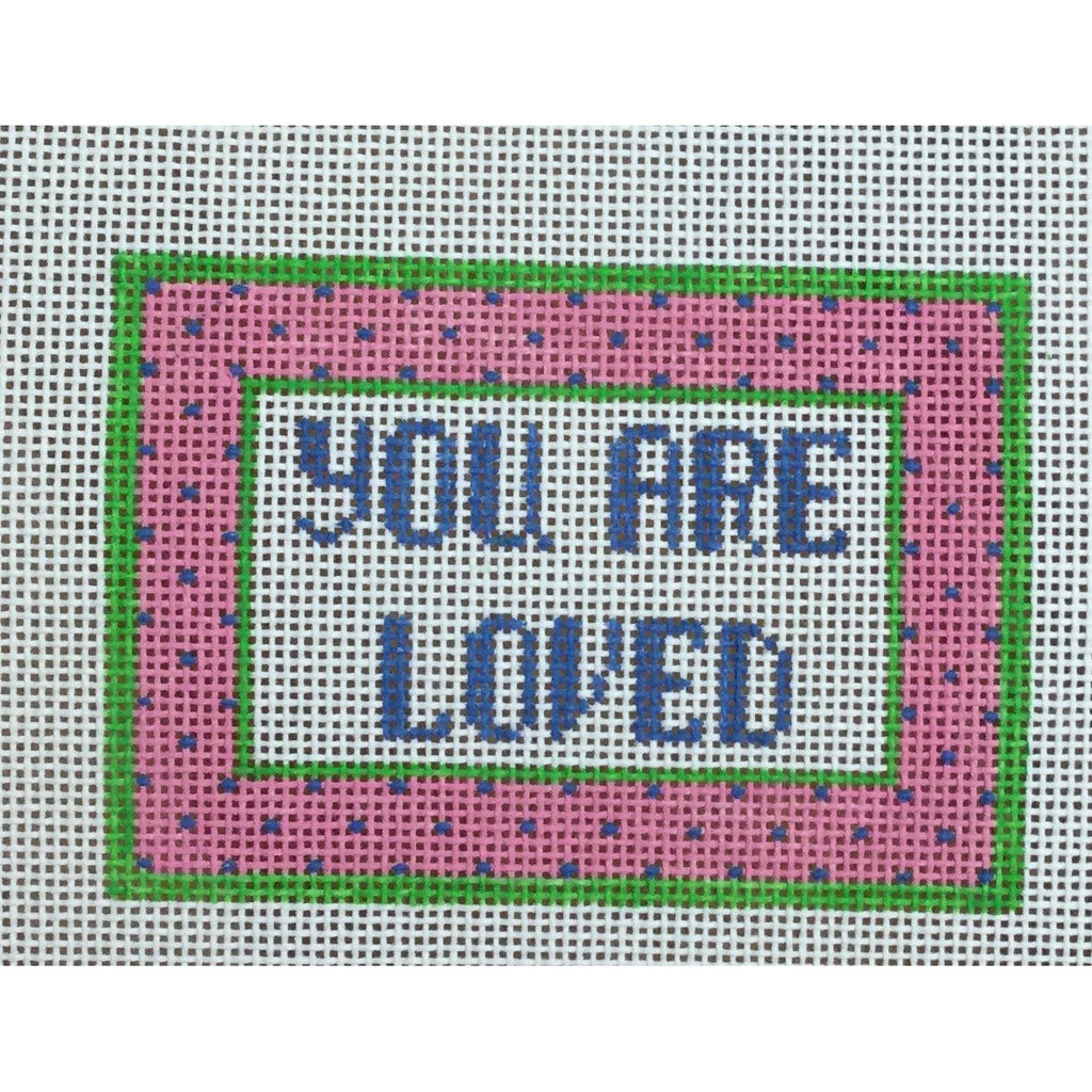 You Are Loved Canvas-Needlepoint Canvas-Canvas Connection-KC Needlepoint