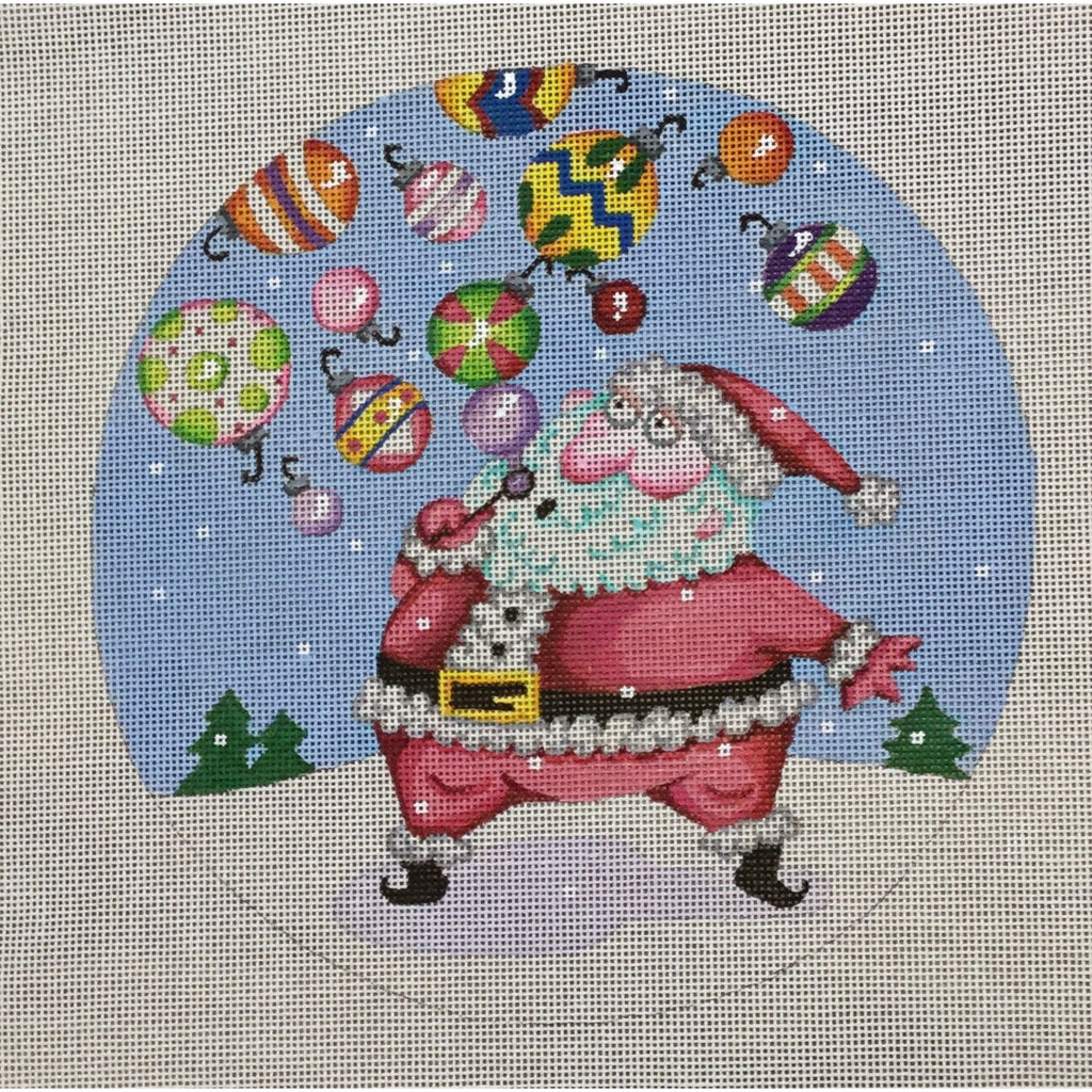 Santa Blowing Bubbles Canvas-Needlepoint Canvas-Heidi Stanley Designs-KC Needlepoint