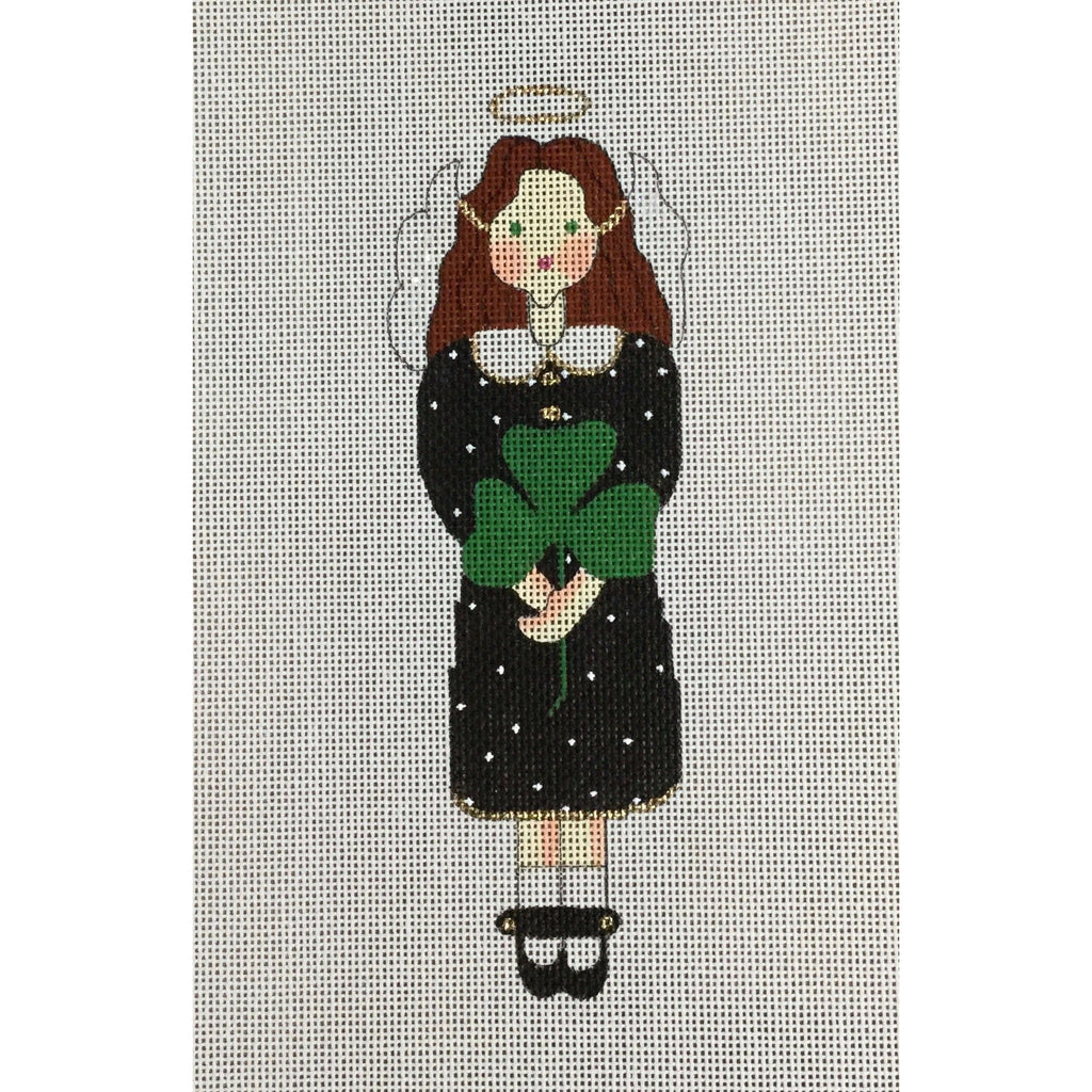 Shamrock Angel Canvas-Needlepoint Canvas-The Artists Collection-KC Needlepoint