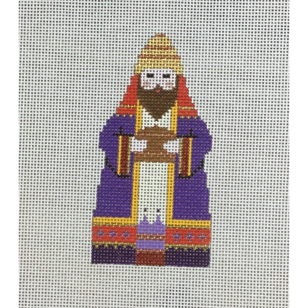 Purple King, Nativity Set Canvas-Needlepoint Canvas-Carol Dupree-KC Needlepoint