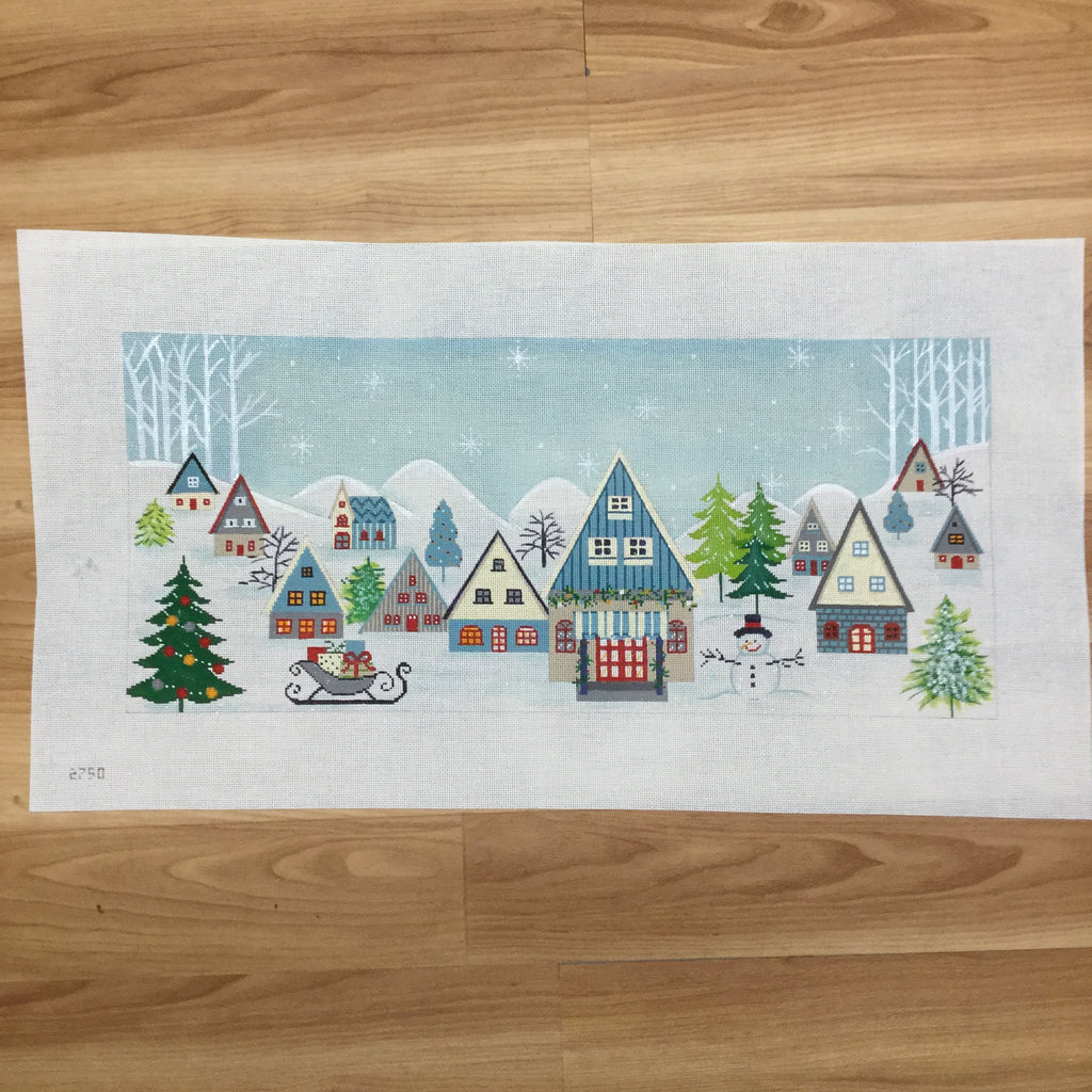Winter Scene Canvas-Needlepoint Canvas-Alice Peterson-KC Needlepoint
