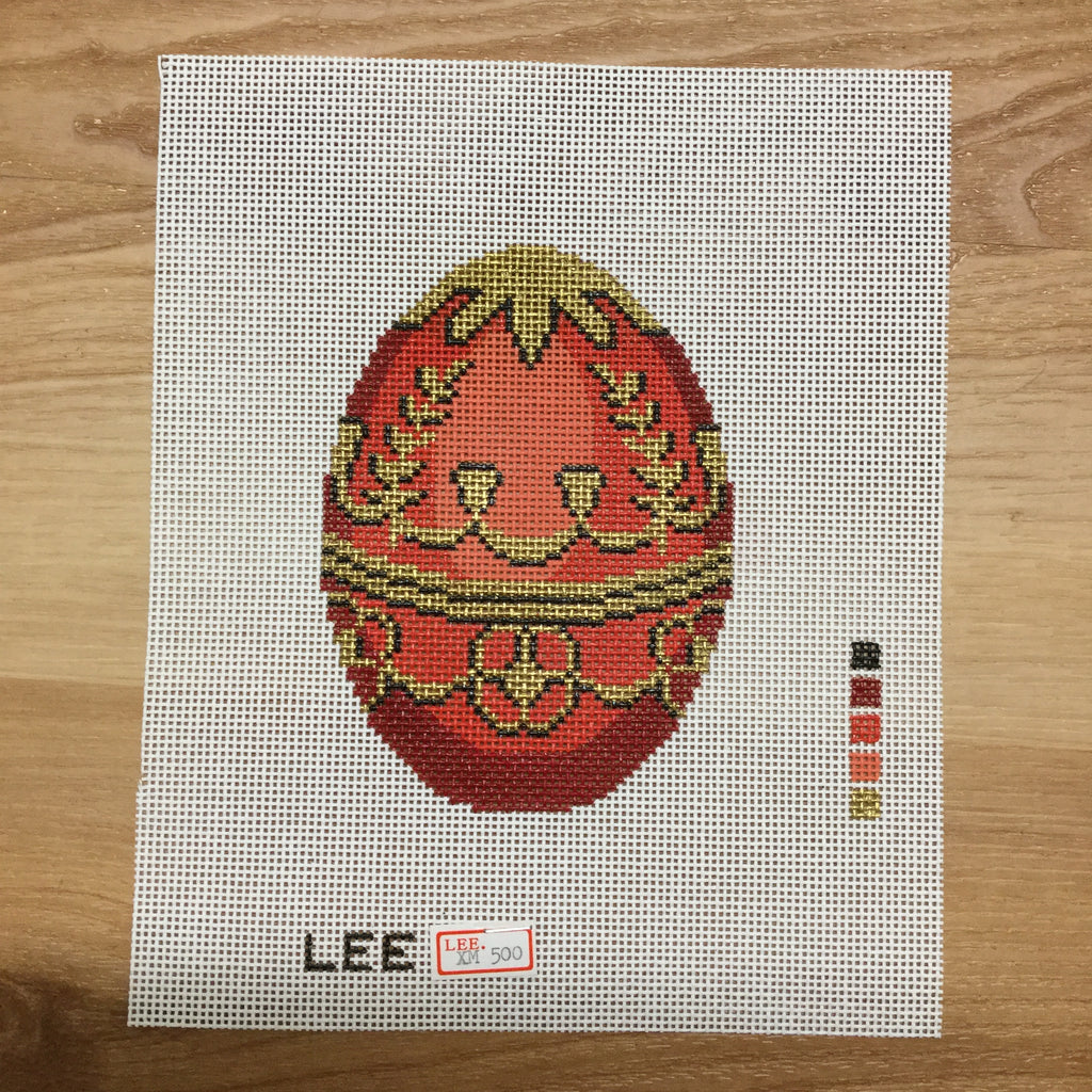 Red Faberge Canvas-Needlepoint Canvas-Lee Needle Arts-KC Needlepoint