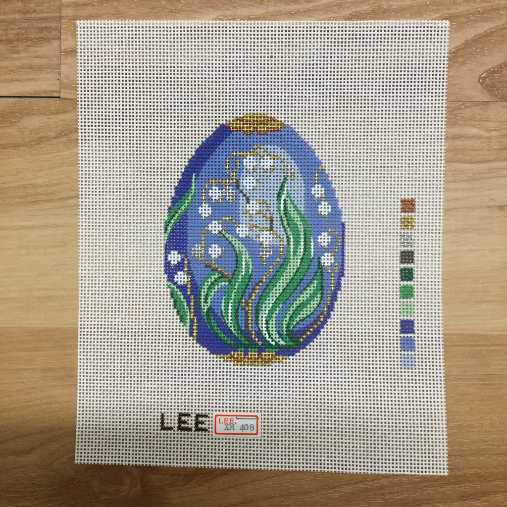 Blue Faberge Canvas-Needlepoint Canvas-Lee Needle Arts-KC Needlepoint