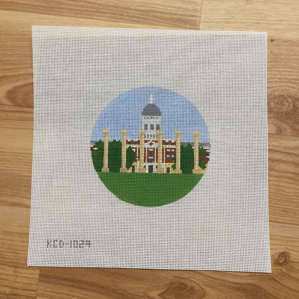 MU Jesse Hall and Columns Round-Needlepoint Canvas-KCN Designers-KC Needlepoint