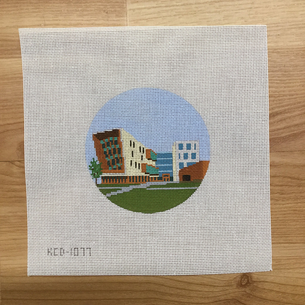 Cap Fed Building Canvas-Needlepoint Canvas-KCN Designers-KC Needlepoint