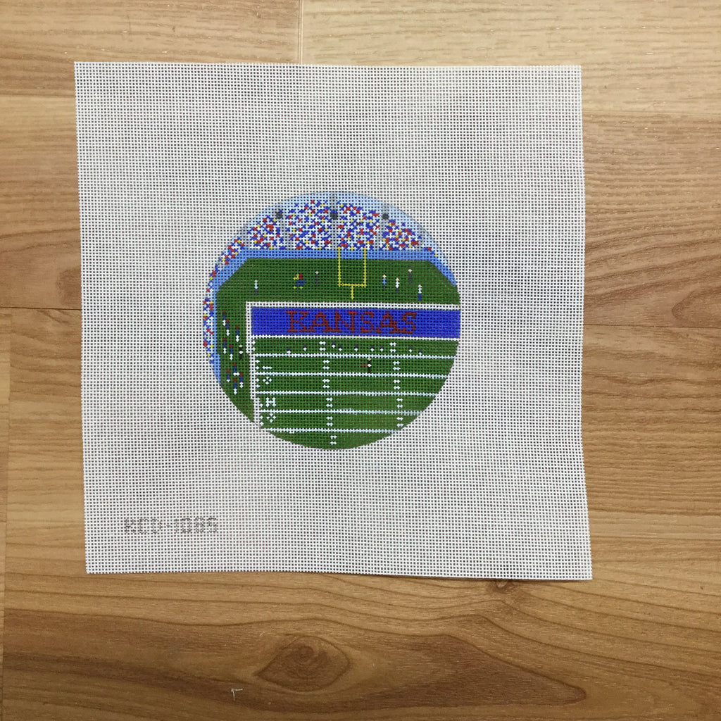 Memorial Stadium Canvas-Needlepoint Canvas-KCN Designers-KC Needlepoint