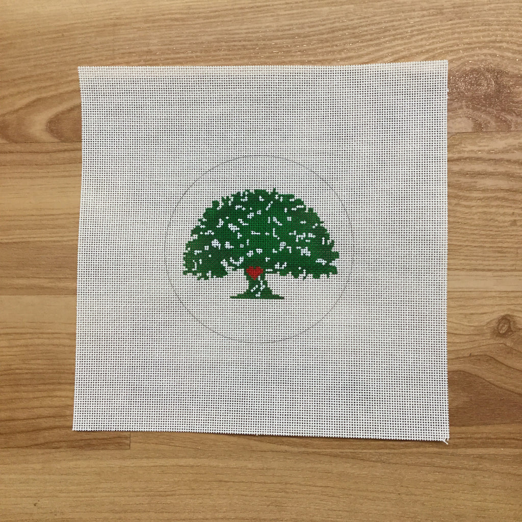 Julie's Tree Canvas - needlepoint