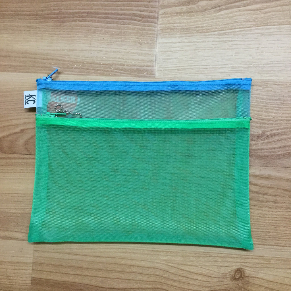 Walker 7x9 Double Zip Bag-Accessories-Walker-mint-aqua-KC Needlepoint