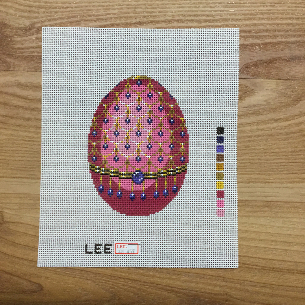 Pink Faberge Canvas-Lee Needle Arts-KC Needlepoint