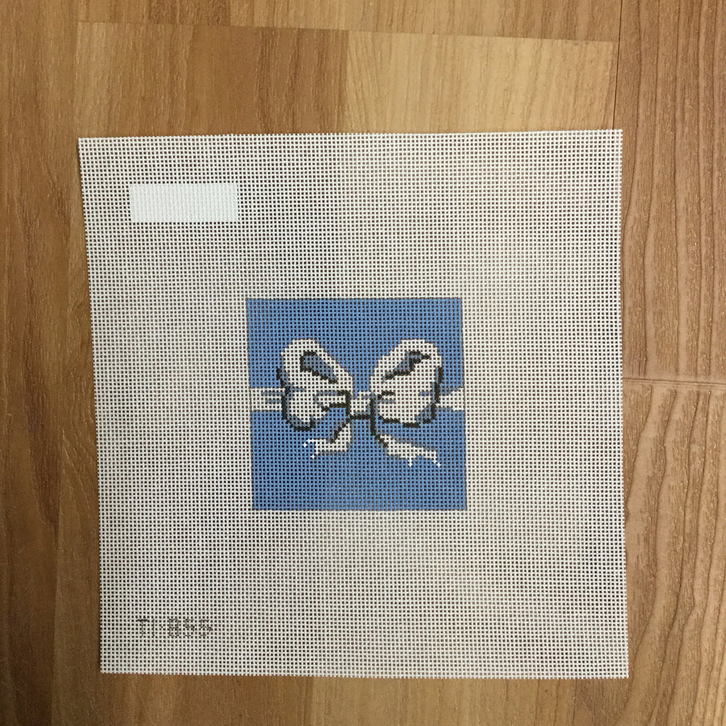 Blue Bow Needlepoint Canvas
