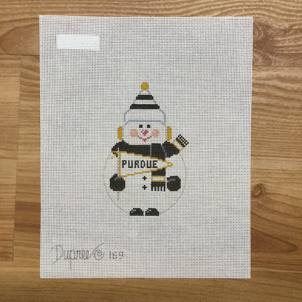 Purdue Snowman Canvas